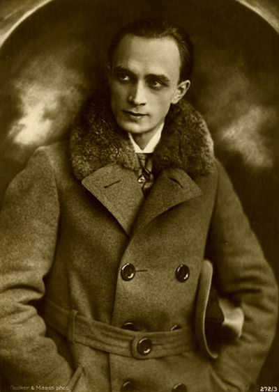 Conrad Veidt - German actor, probably now most famous for his early role in 'The Cabinet of Dr Caligari' and much later, when he had moved to Hollywood, his part in 'Casablanca'.