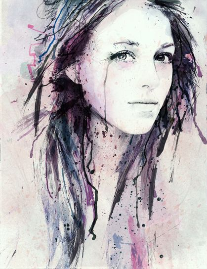 awesome self portrait... would be fun to try