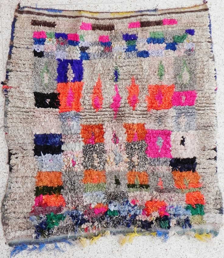 Boucherouite Rug 2#14 - 5.5 x 4.5