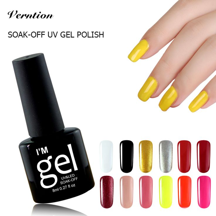 Verntion Design Glue Uv Gel Nail Polish Semi Permanent Soak-off Long-lasting LED UV Nail Gel 8ml/pcs Gel Nail Lacquers Nail Art  Price: 0.95 USD