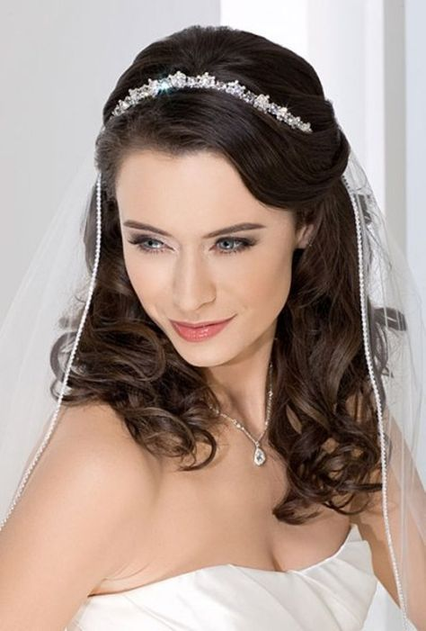 Best Bridal Tiaras Hairstyle Images On Pinterest Wedding