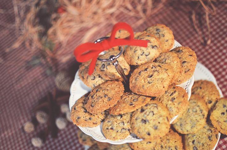 #Cookies con gocce di cioccolato