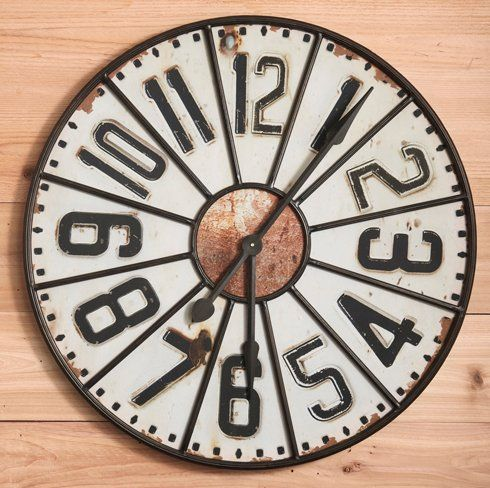Twos Company 9632 Retro Traditional Wall Clock TWO-9632