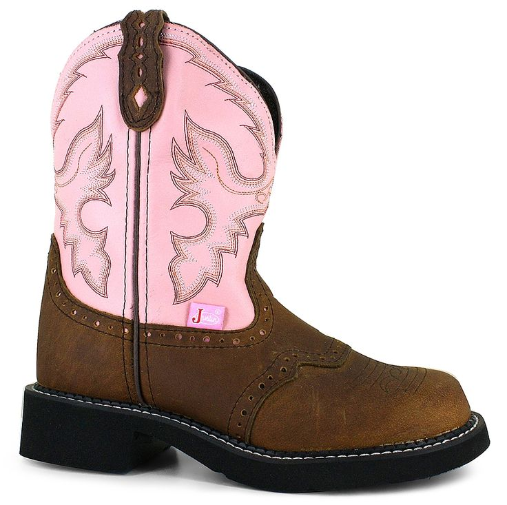 Fashionable Justin L9901 Gypsyleather upper classic western stitching  detail pull
