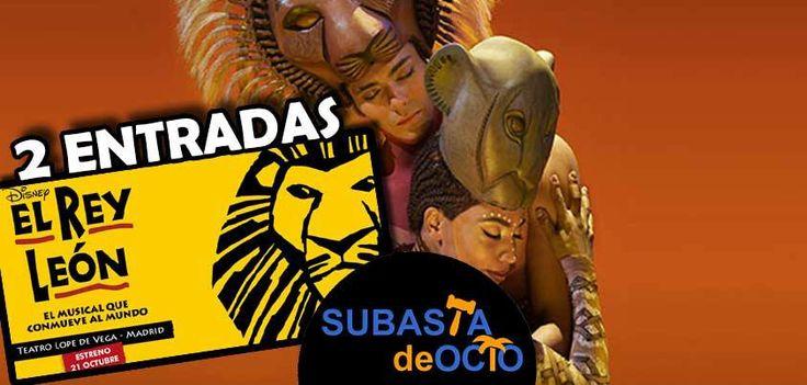 ¡El musical de El Rey León te espera en #MADRID! Puja en http://www.subastadeocio.es/subasta/entradas/entradas-musical-rey-leon-en-madrid-1136por 2 ENTRADAS ★¡La subasta inicia a 1€!★ Valoradas en más de 170€