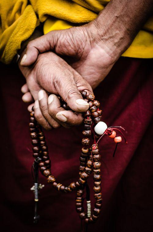 Tibetan Buddhist Monk in Leh (northern India)