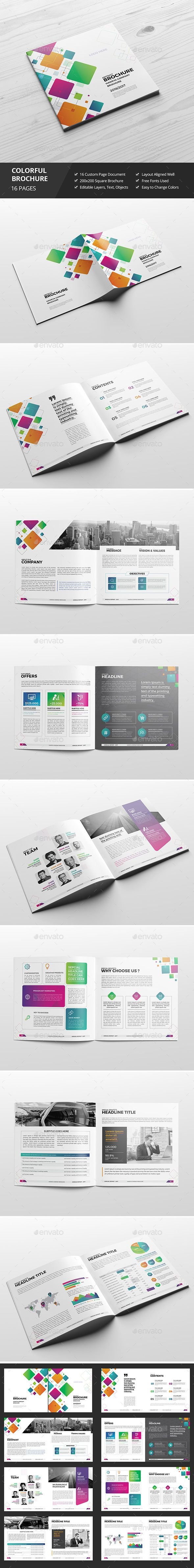 Haweya Colorful Square Brochure 03  — InDesign Template #design #marketing • Download ➝ https://graphicriver.net/item/haweya-colorful-square-brochure-03/18647156?ref=pxcr