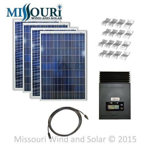 12/24 Volt 400 Watt 50 Amp MPPT Solar Panel Kit includes four 1000 watt solar panels, MPPT solar charge controller, mounting brackets, and 30 feet of solar panel extension cable at a great discounted price.