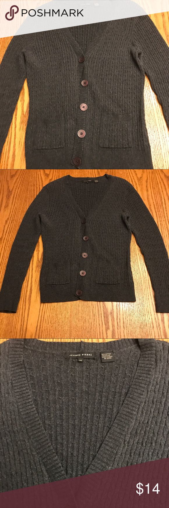 Jeanne Pierre Sweater Cardigan Grey Button Down Soft and comfy grey cardigan Jeanne Pierre Sweaters Cardigans