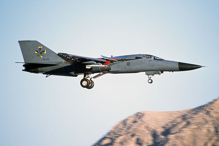 https://flic.kr/p/S2cptA | F-111C A8-125 | Royal Australian Air Force F-111 returns to Nellis from a Red Flag mission. September 2002.