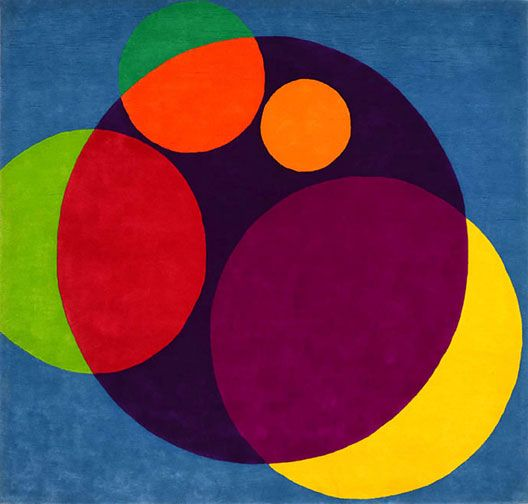 Chromatic Circles  Wool-Pile Carpet Hanging by Herbert Bayer  American, designed in 1967