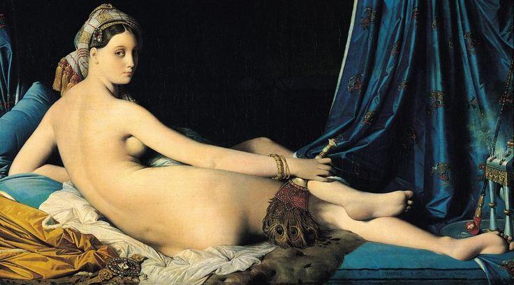 """Jean-Auguste-Dominique Ingres Wielka Odaliska    """"Wielka odaliska"""" i jej anatomiczna dysproporcja"""