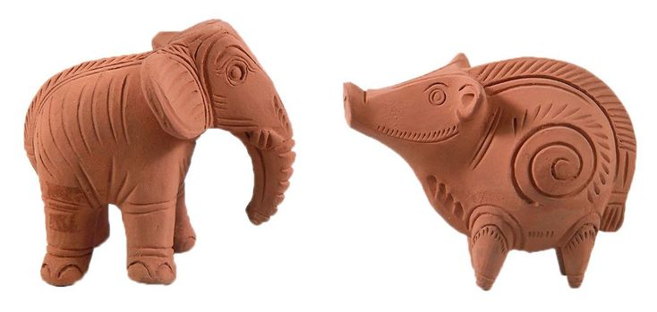Elephant and Pig (Terracotta)