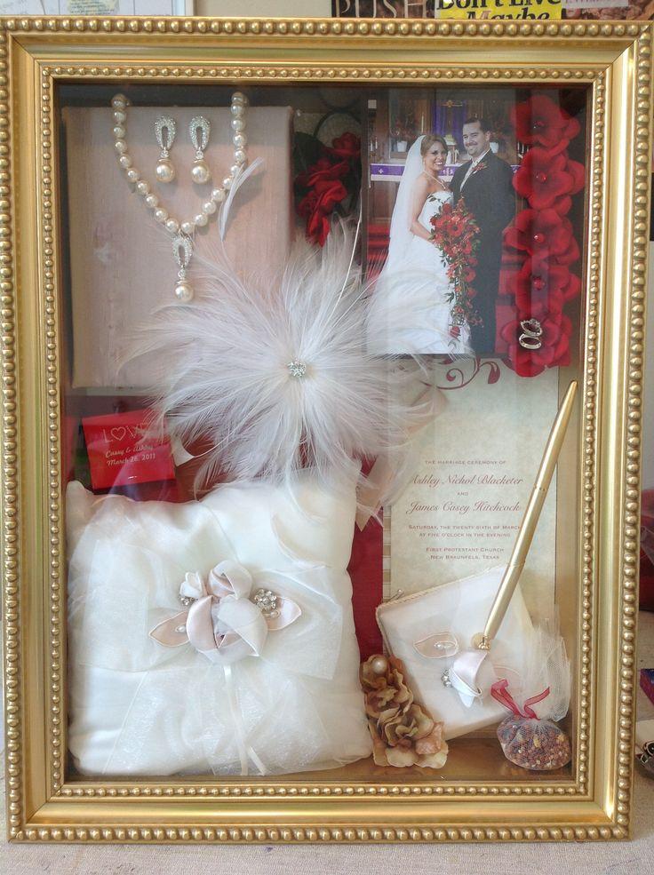 Our wedding shadow box crafty creations by craftley for Wedding dress shadow box