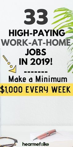 33 Legitimate Work From Home Jobs to Make $25 per hour – Make money from home
