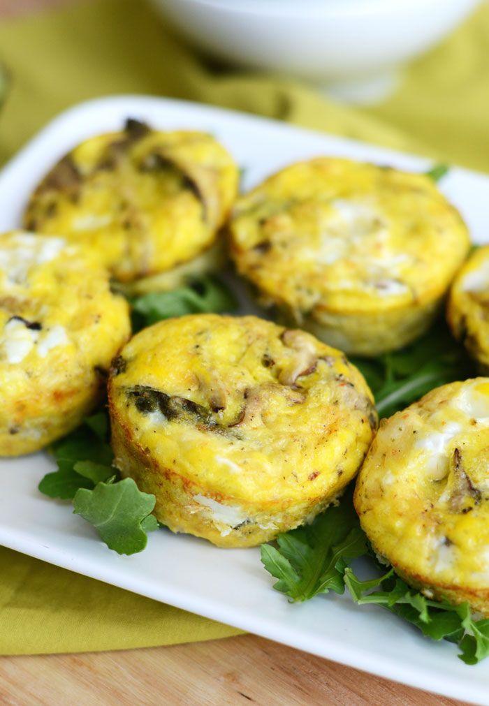 Asparagus & Mushroom Frittatas