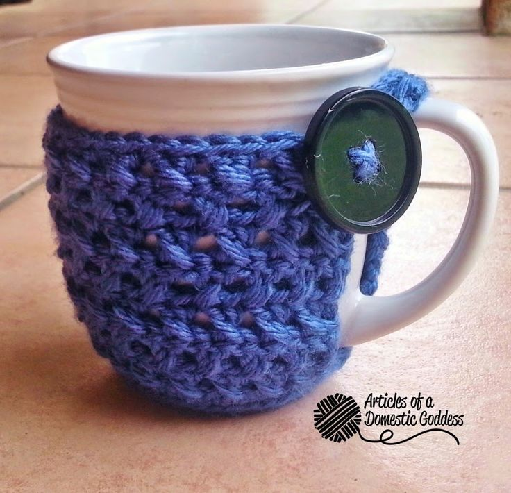FREE~ Textured Coffee Mug Cozy Pattern | Articles of a Domestic Goddess direct link