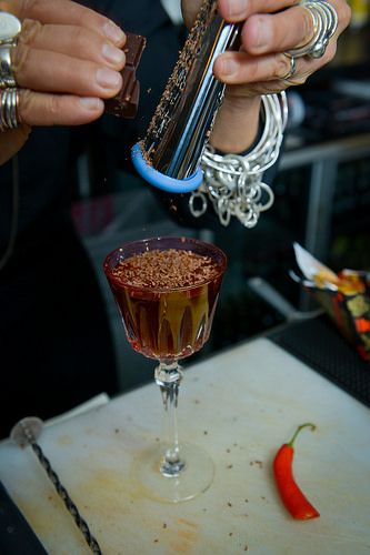 Chilli & Chocolate Rusty Nail cocktail