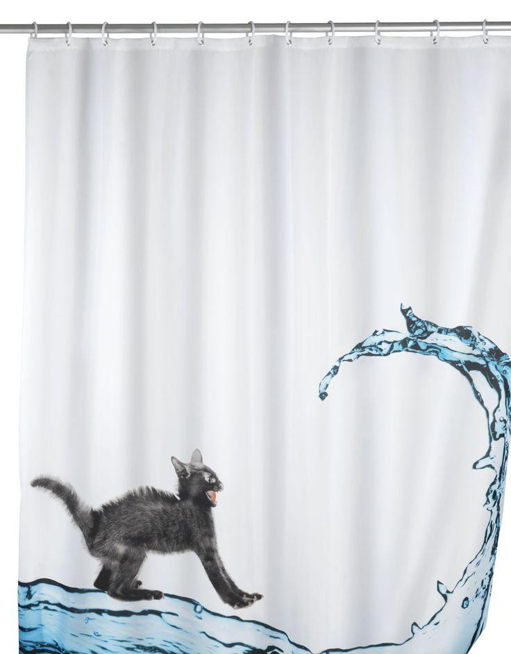 WENKO Anti-Schimmel Duschvorhang Cat 180 x 200 cm waschbar  Description: Die Weltneuheit dieses besonderen Vorhangs ist der sensationelle Anti-Schimmel-Effekt! Damit sind die Zeiten von angeschimmelten Duschvorhängen vorbei. Zusätzlich ist der schöne und effektive Helfer auch anti-bakteriell beschichtet. WENKO bringt mit diesem Novum Hygiene und Design ins Badezimmer. Dieses freche Katzenmotiv verleiht dem Badezimmer mehr Farbe sowie Lebendigkeit und eignet sich mit einer Breite von 180 cm…