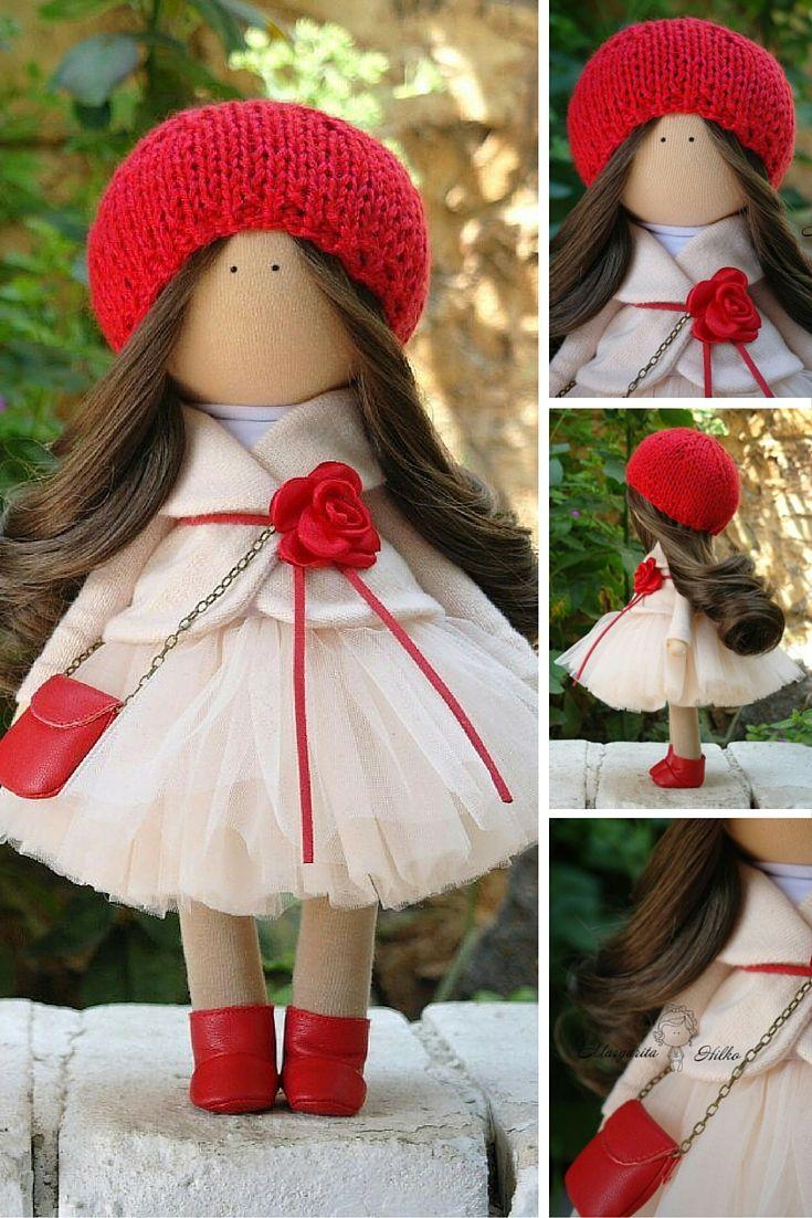 Fabric doll Handmade doll Tilda doll Art doll Textile doll Rag doll Unique doll Doll toy by Master Margarita Hilko