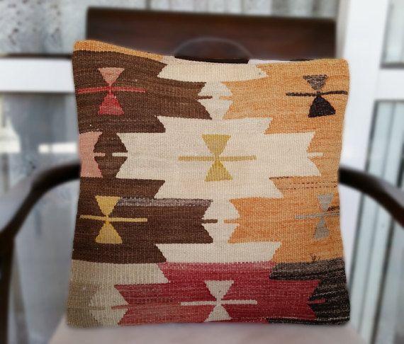 Decorative Kilim Rug Pillow Cover Pillow Case Unique by OtantikArt