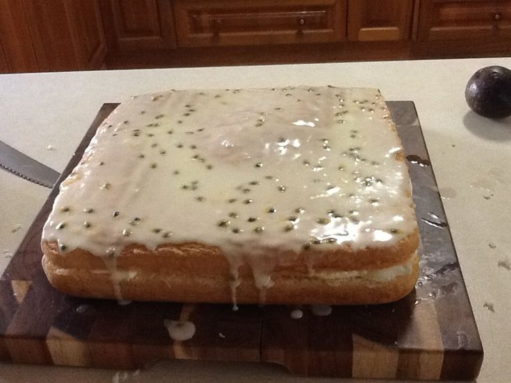 Passionfruit Sponge. Due to the lightness, sugar and egg content, you do need to dust the Square Roaster for this Recipe. This sponge was made by a TCT Consultant.