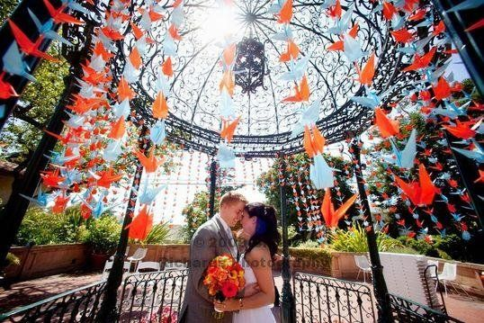 Amarrando 1000 guindastes de papel - Wedding Projeto