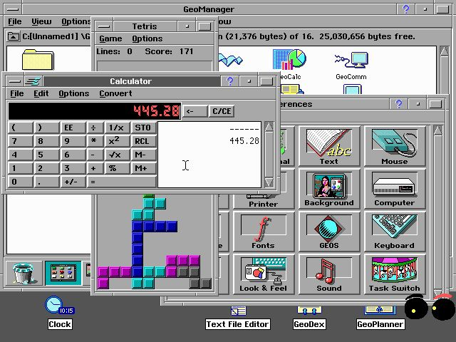 Geoworks Ensemble, Graphic User Interface for PC compatible systems.
