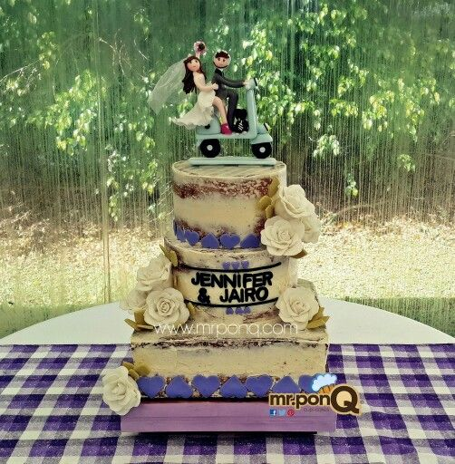 torta desvestida boda - naked cake .mrponQ