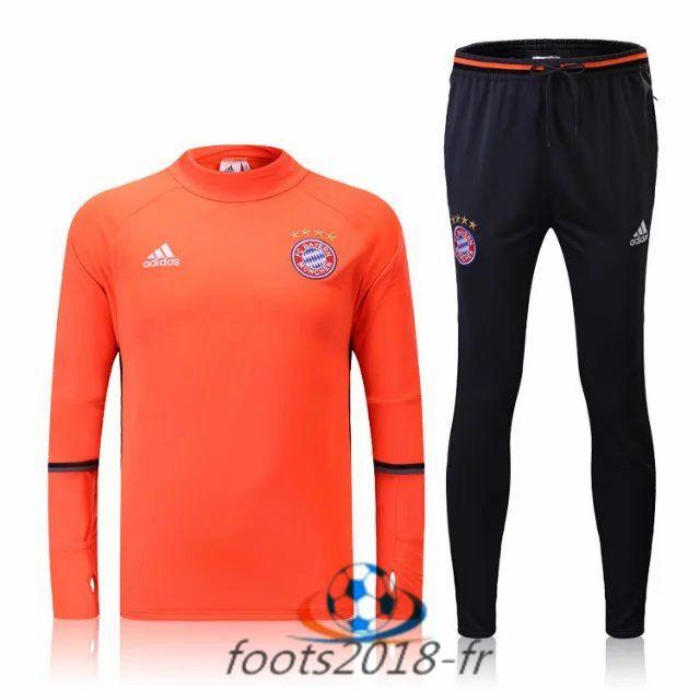 Nouveau Survetement de foot Bayern Munich Orange 2016 2017