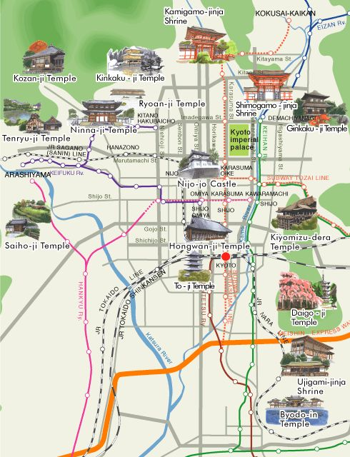 Kyoto World Heritage Map - my gospel for three days