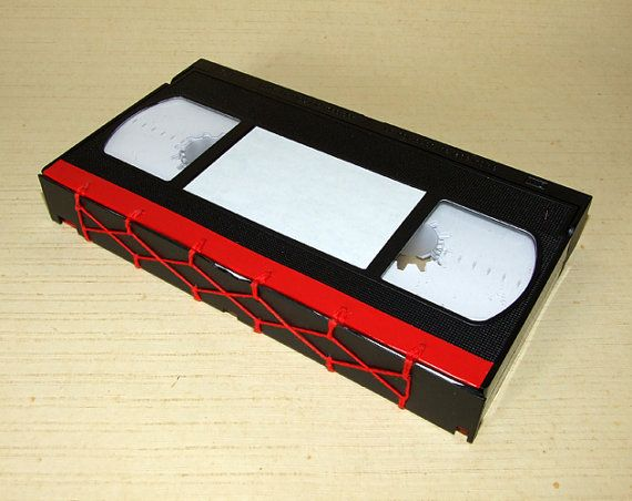 upcycled vhs tape notebook red 1101 tape notebooks and red. Black Bedroom Furniture Sets. Home Design Ideas