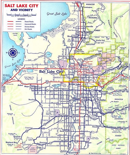 Salt Lake City Map  Utah  Pinterest