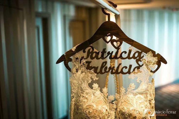 convite de casamento Porto alegre | Cabide personalizado