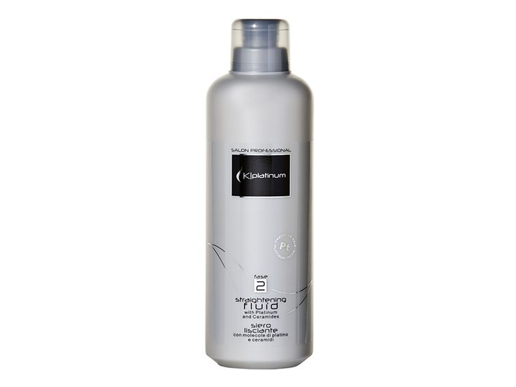 Kplatinum Straightening Fluid - Deeply reconstructs and strengthens the hair, making it precious, shining and silky.