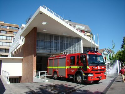 14 th Fire Station, Cuerpo de Bomberos de Santiago, Providencia, Chile