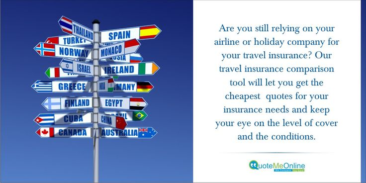 Are you still relying on your airline or holiday company for your ‪#‎travelinsurance‬? Our ‪#‎travelinsurancecomparison‬ tool will let you get the cheapest quotes for your insurance needs and keep your eye on the level of cover and the conditions. http://bit.ly/1nyI3FU