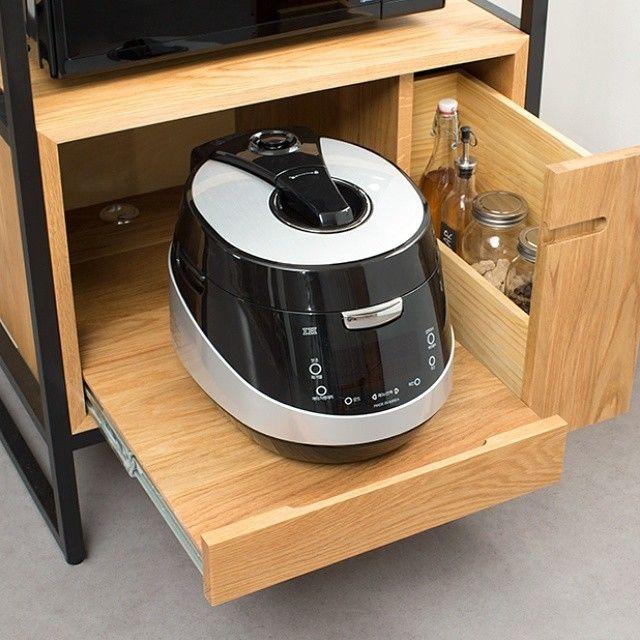 Oven storage 밥솥,오븐들을 한번에 #카레클린트 #카레클린트퍼니처 #kaareklint #kaareklint_furniture #광파오븐장 #가구 #원목