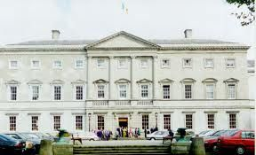 The history of Leinster House the building that today houses the National Parliament of Ireland evolved in stages. The house was originally known as Kildare House after James Fitzgerald, the Earl of Kildare, who commissioned it to be built between 1745 - 1747. http://garlicangel.hubpages.com/hub/Irelands-new-Fine-Gael-and-Labour-coalition-government