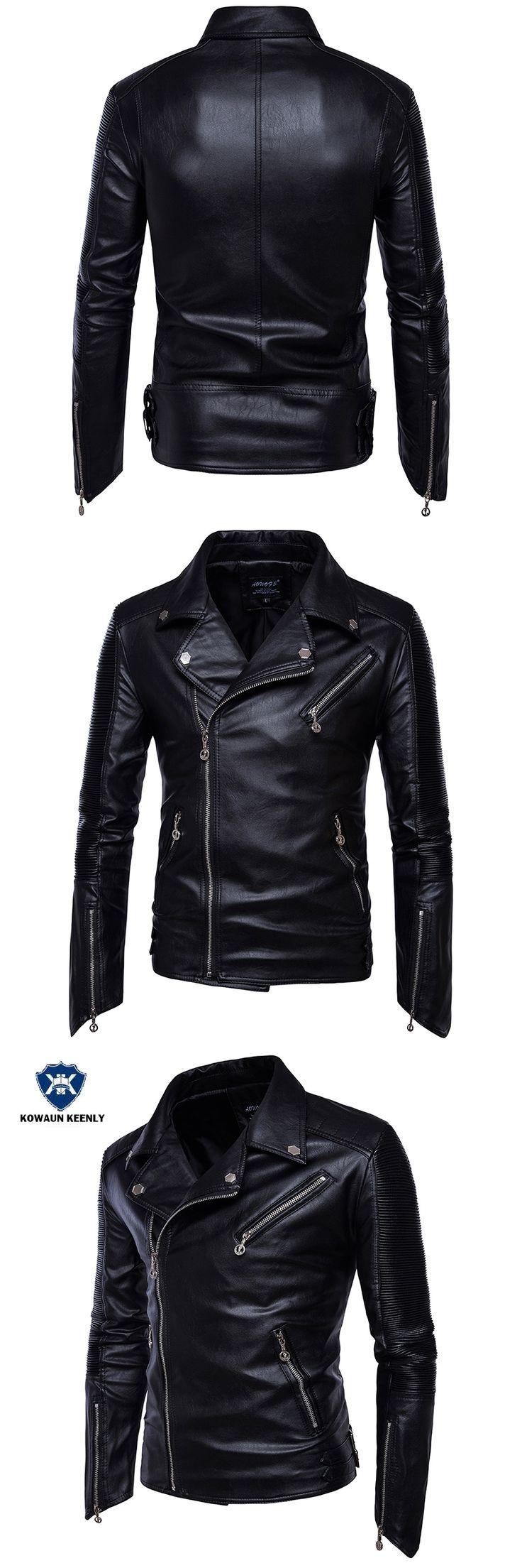 Men's Black Leather Jacket Biker PU Leather Jackets Punk Motorcycle Faux Leather Coat Plus Size 5XL Leather Blazer Overcoats