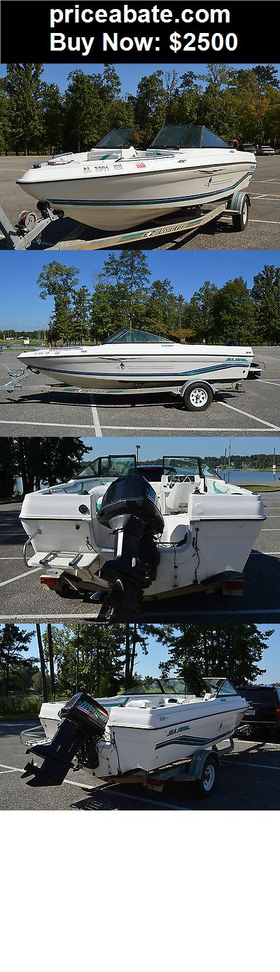 Boats: 1995 Stripper Sea Swirl Fish and Ski Boat - BUY IT NOW ONLY $2500