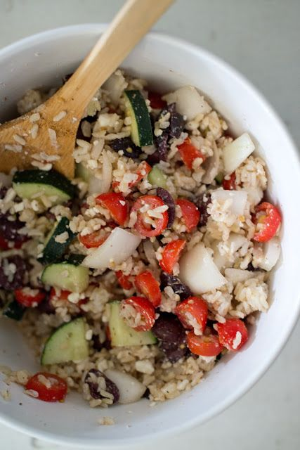 Throw Together Greek Salad and Rice