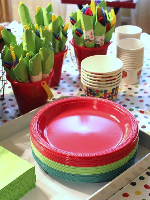 Very Hungry Caterpillar First Birthday I love the silverware and plates
