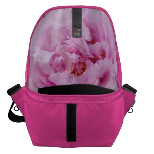 #zazzle #girl  #woman #gift  #giftidea   #Bag #Pink #Flower  #Large #Messenger