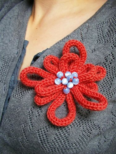 i-cord flower - nauhakukkanen by kaisakaisa2, via Flickr