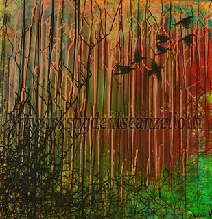 Artworks by Denise Anzellotti: Blackbirds flight for freedom...