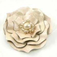 pearlized leather flower   # Pin++ for Pinterest #