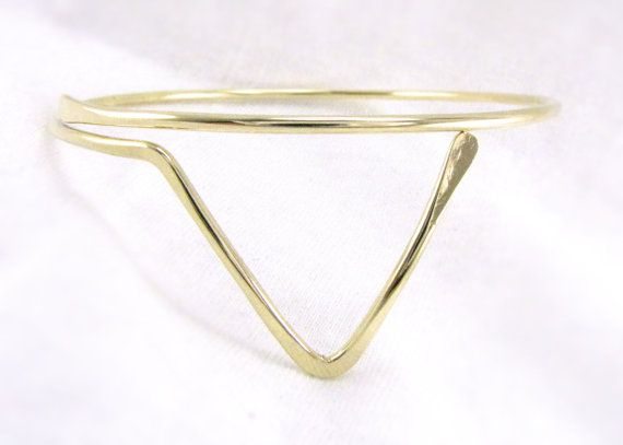 BrAsS Upper ArMbaNd: Gold Triangle Armlet Boho Upper by Cuprum29