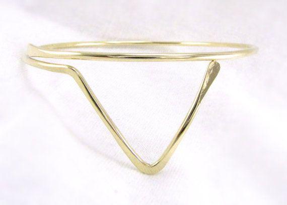 Cuprum 29 Jewelry | Handmade Trendy Bohemian Jewelry by ErikaLyn | Adjustable Brass Triangle Armlet #cuprum29jewelry