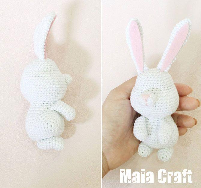 Хотите связать крючком кролика из мультика «Тайная жизнь домашних животных»? Эта схема вязания поможет вам создать милашку за пару вечеров! Вязаный кролик Снежок очень похож на своего прототипа, но только не такой вредный :)